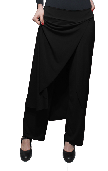 Calça Saia Flamenca Papoula Preta