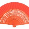 Leque abanico médio 23cm - desenho vazado várias cores