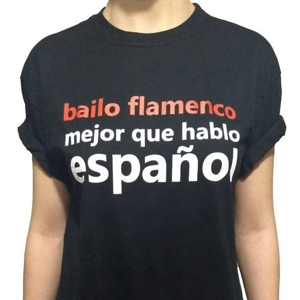Camiseta preta bailo flamenco
