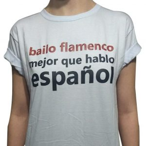 Camiseta branca bailo flamenco