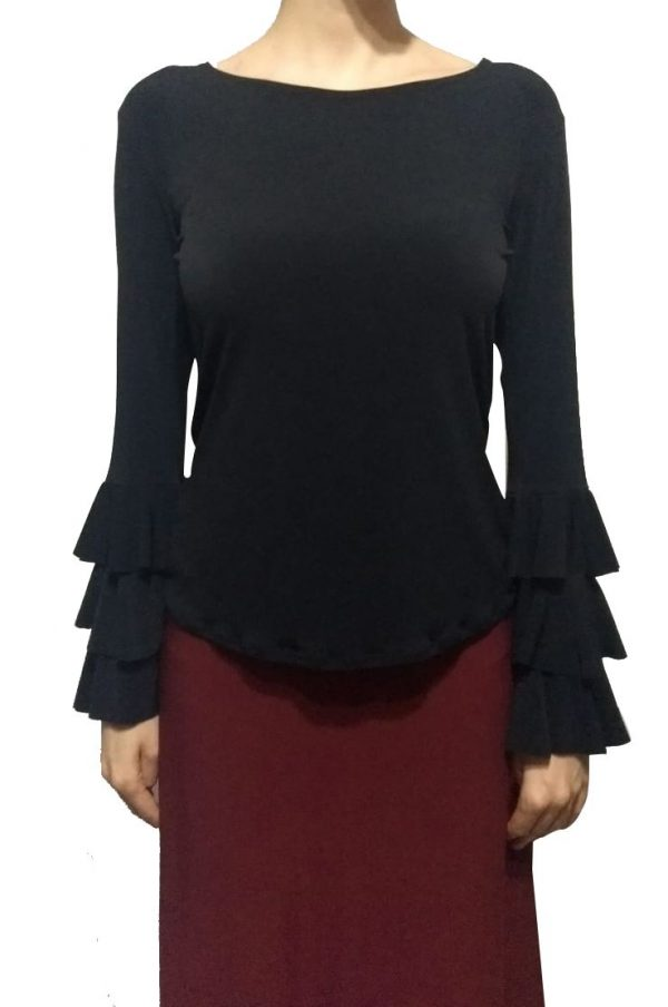 Blusa petúnia preta