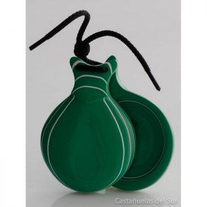 Castanhola profissional vidrio verde veteado branco Nº5