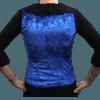 Colete cigano veludo molhado azul