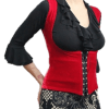 Colete cigano veludo vermelho