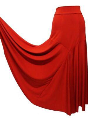 Saia Flamenca Gardênia Vermelha