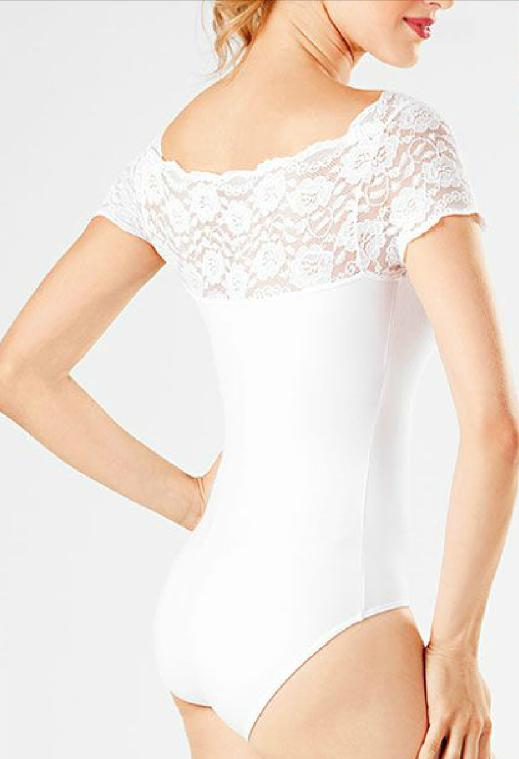 Collant renda branco flamenco