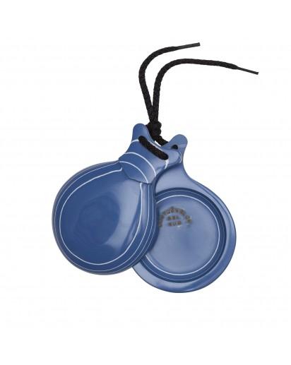 Castanhola profissional vidrio azul veteado branco Nº5