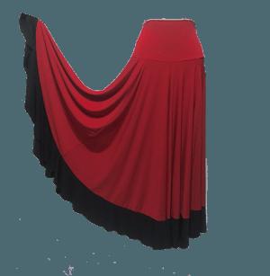 Saia hibisco vermelha barra preta