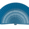 Leque Flamenco Abanico Médio Vazado 23cm várias cores - Azul