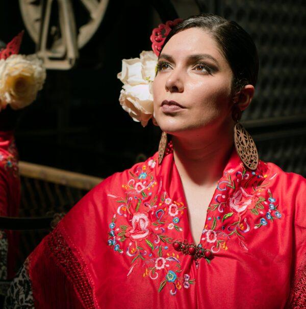 Colete Flamenco Cigano Veludo Preto