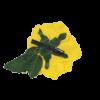 Flor Espanhola Grande Amarela com passador